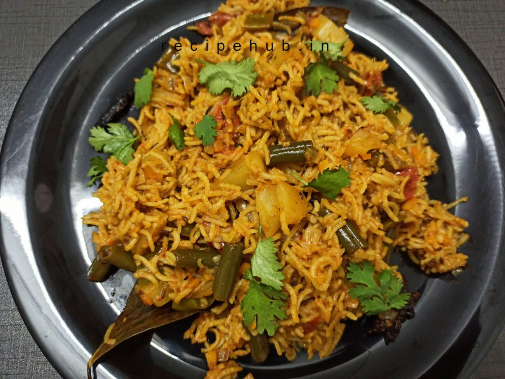 simple vegetable pulao recipe