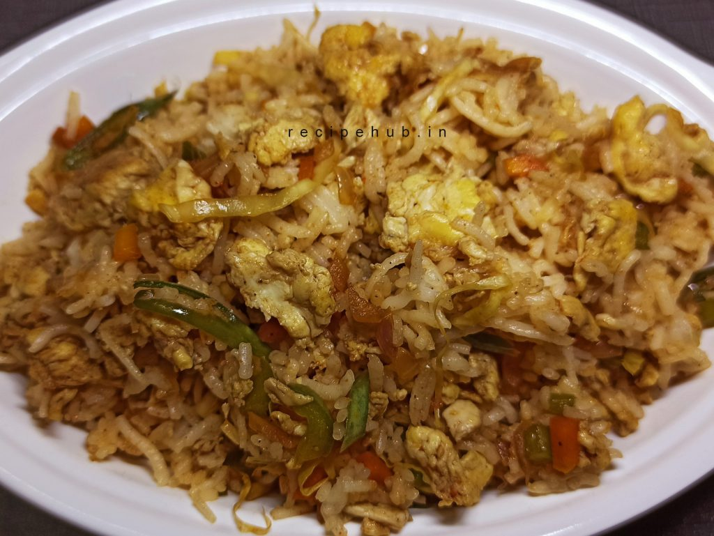 egg fried rice at home