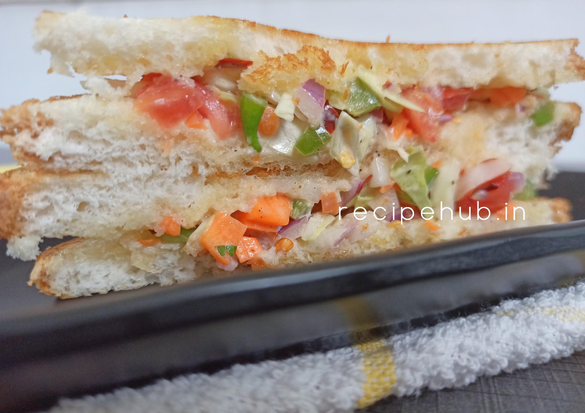 Veg Sandwich Using Mayonnaise How To Make Veg Mayonnaise Sandwich
