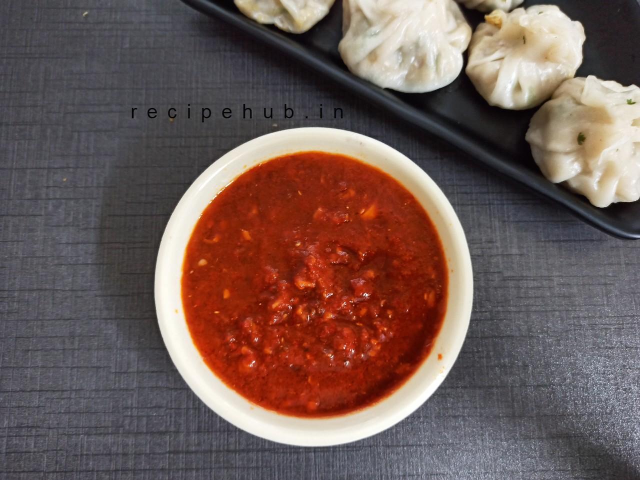 spicy momos chutney