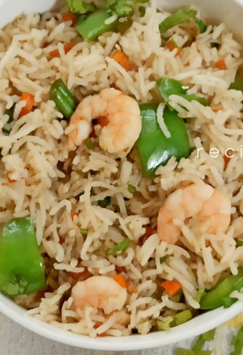 easy prawn rice