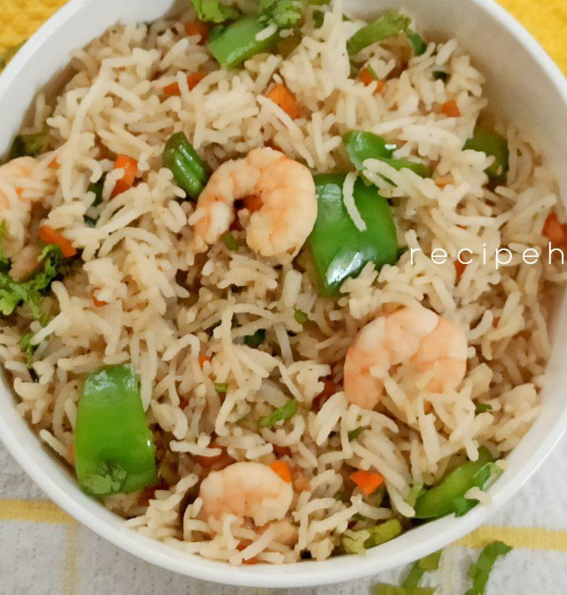 easy prawn rice
