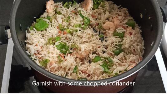 prawn fried rice ready