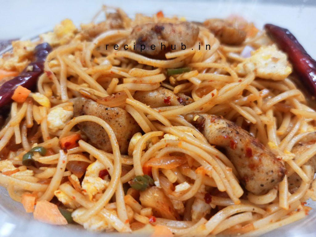 chicken schezwan noodles recipe