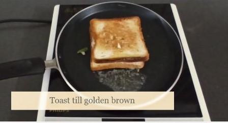 mayonnaise sandwich on tawa