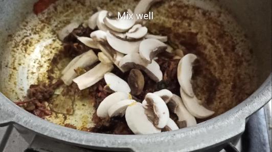 south indian mushroom biryani