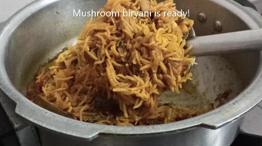 easy mushroom biryani