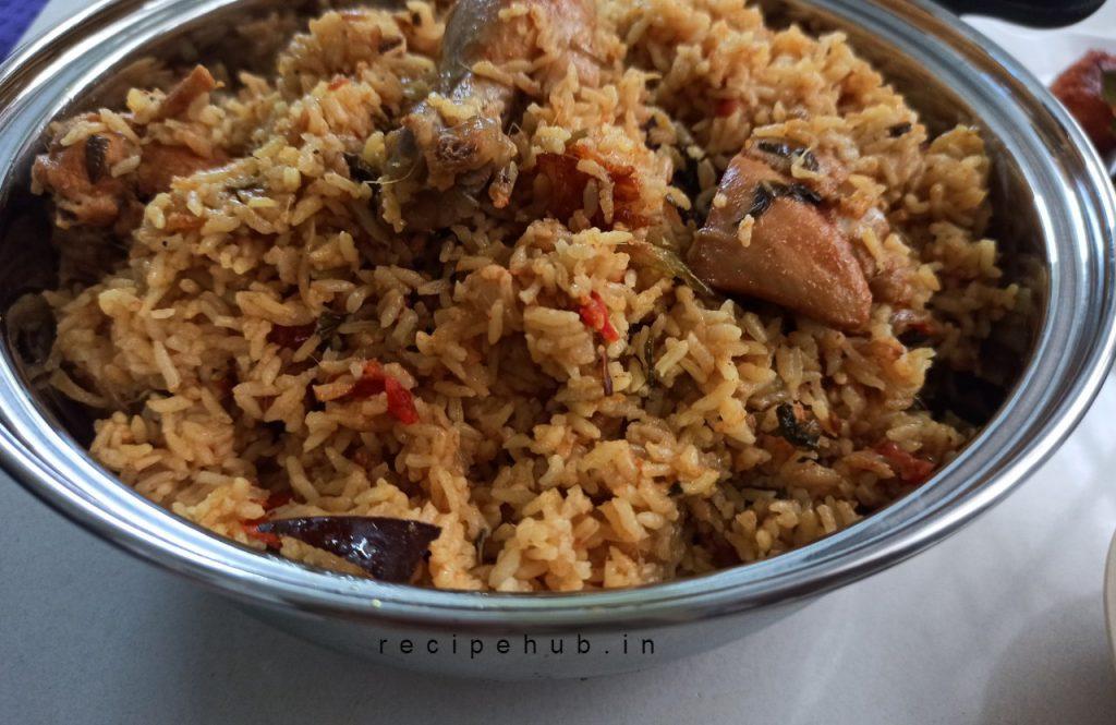 chicken biryani with seeraga samba rice