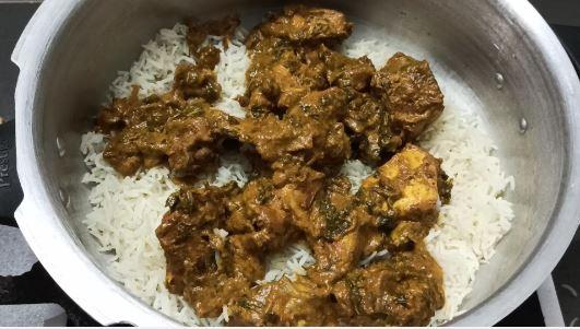 how to make dum biryani chicken