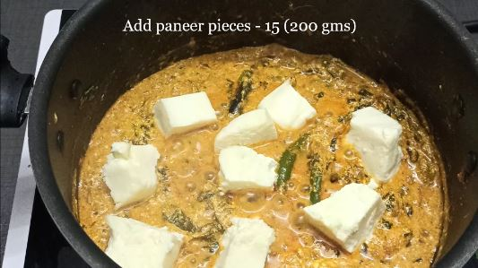 add paneer or cottage cheese