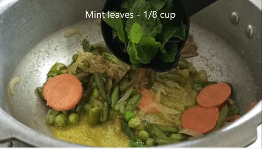 simple vegetable biryani