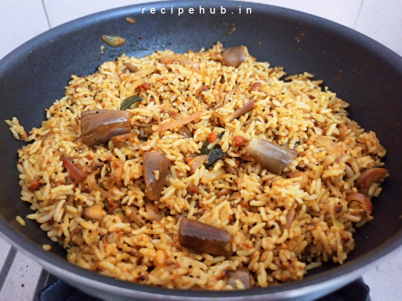 easy brinjal rice recipe