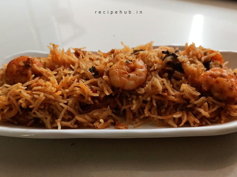 spicy prawn biryani recipe